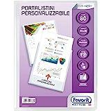 Favorit 100460331 - Portalistino Personalizzabile 80 Buste, 22 x 30 cm, Trasparente