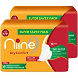 Niine Dry Comfort Regular SUPER SAVER PACK Sanitary Napkins for women, With Biodegradable disposable bags inside, (Pack…