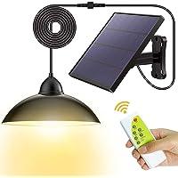 Solarlampen für Außen-Fichaiy Solar Hängelampe-IP65 Wasserdichte-Fernbedienung-5m Kabel - 180 ° Einstellbares Solarpanel…