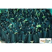 Dharti Enterprise Plastic Growing Bag, Black, 5 X 7 Inch, Small Size, 50 Pieces