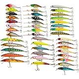 Lixada 43pcs Leurres de Pêche kit Artificielle Appâts Kit Pêche Accessoires