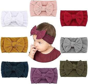 Makone Bébé Bandeaux, Super Soft Stretchy Knot Bébé Turban, Multicolore Hairband pour Bébé Nouveau-né Filles, Bande de Cheveux Bébé Tout-Petit