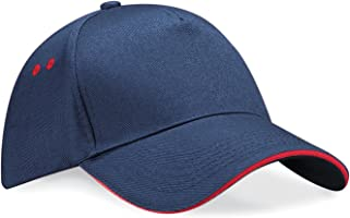 Beechfield Unisex Ultimate 5 panel contrast cap with sandwich peak