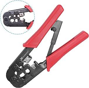 Incutex pince /à sertir pour prises r/éseau RJ45//11 4P4C1 pince /à d/énuder pince cosse /électrique sertisseur outils sertissage 8P8C 6P6C