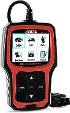 Ancel AD410 OBD II Automotive Code Reader Fehlerausleser Zum Fahrzeug Prüfen Motor Licht Diagnosegerät Auto OBD2 Scanner mit I/M Bereitschaft (Schwarz-Rot)