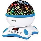 Moredig Proyector Estrellas Bebé, Lámpara Proyector Infantil Luz Nocturna con Rotación y Música, Función de Temporización y C