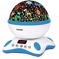 Moredig Veilleuse Bébé, Veilleuse Musicale et Lumineuse, Veilleuse Enfant Rotative + Minuterie + Télécommande + 8…