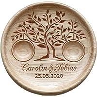 Porta Fedi in legno, Cuscino anelli matrimonio legno, Cuscino anello nuziale rustico, Portafedi scatola Personalizzato…