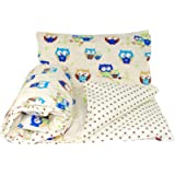 Baby's Comfort Reversible 2pcs Baby Bedding Set Duvet/Quilt Cover + Pillowcase (70x80cm for Cribs/prams/Moses Baskets…