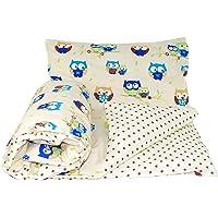 Baby's Comfort Reversible 2pcs Baby Bedding Set Duvet/Quilt Cover + Pillowcase (70x80cm for Cribs/prams/Moses Baskets, 10)