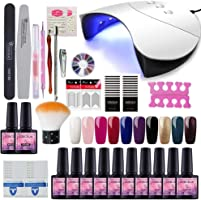 Saint-Acior 10pc Vernis Semi Permanent 36w UV/LED Lampe USB Pour Sécher Vernis A Ongle Soak Off UV Gel Base Top Coat...