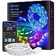 Govee WiFi-led strip 10 m, slimme RGB-led strip, app-bediening, kleurverandering, muzieksynchronisatie, werkt met Alexa en Go