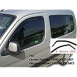 Van Demon Tailored Black Bonnet Deflector Acylic Hood Stone Bug Protector Guard for Citroen Berlingo 08-15