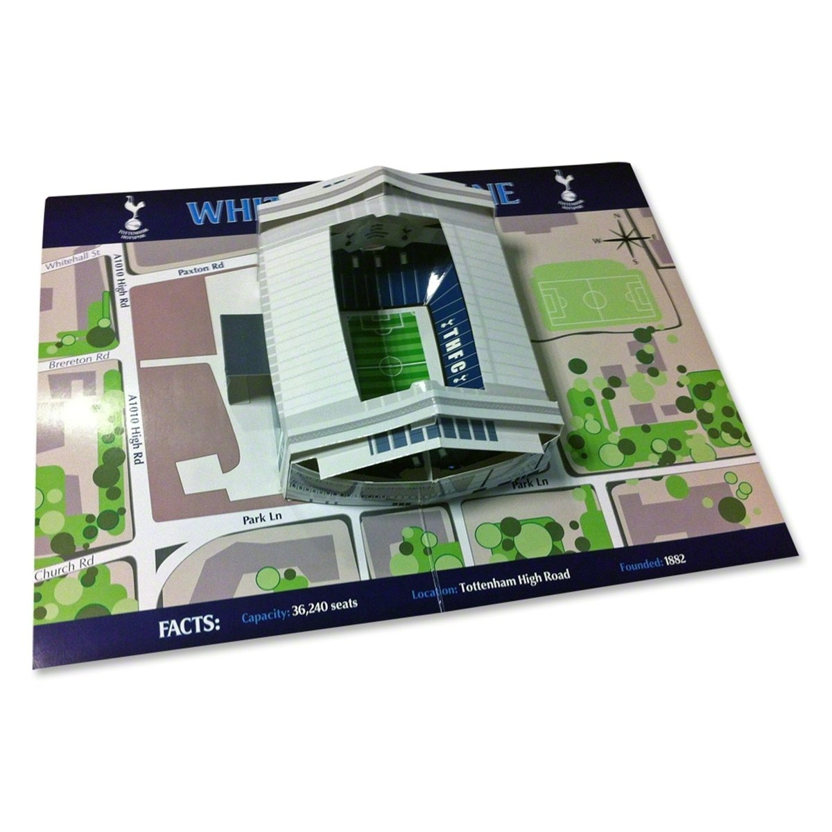 Spurs 3D Pop Up Stadium Birthday Greetings Card Amazoncouk – Tottenham Birthday Cards