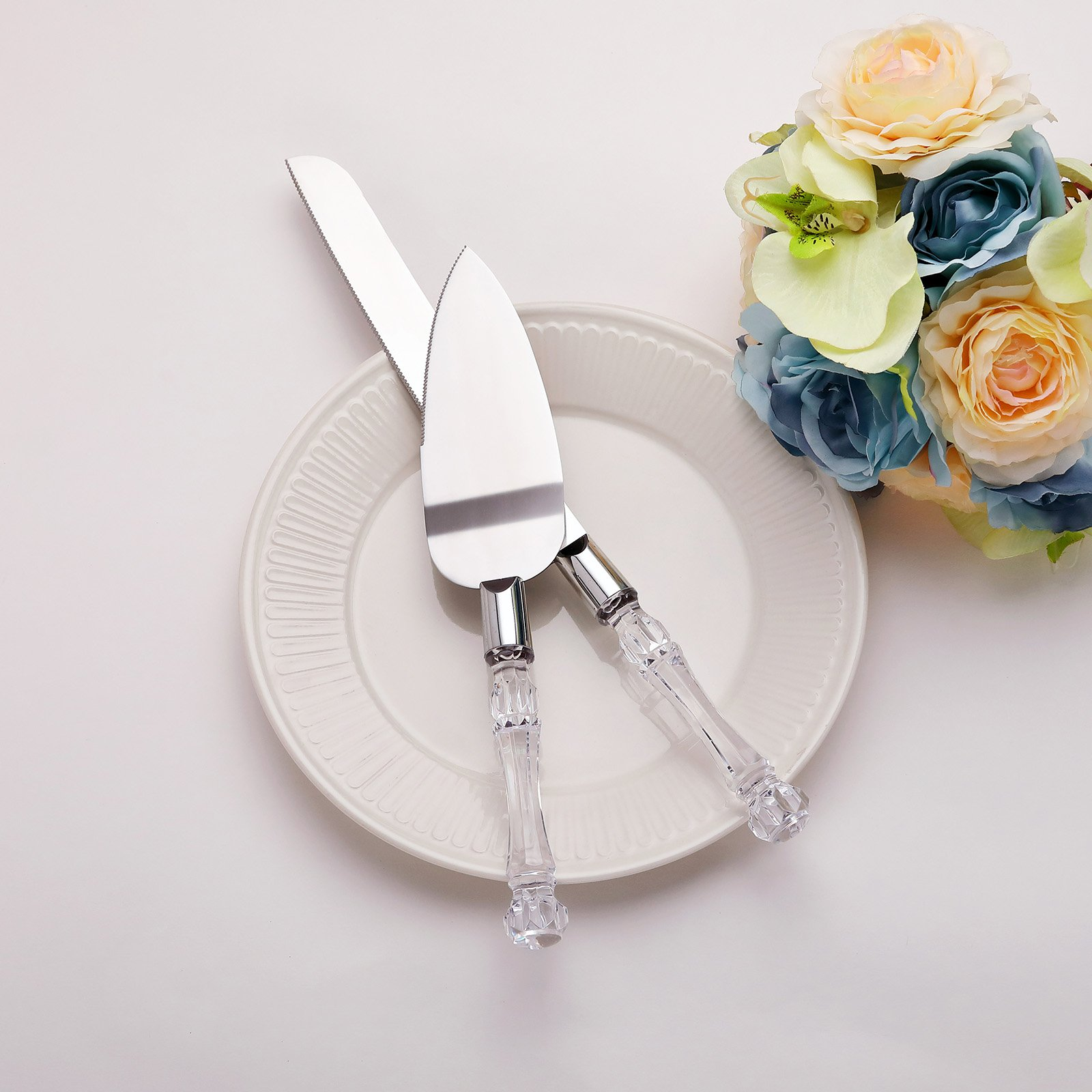 AW Stainless Steel Wedding Cake Knife And Server Set