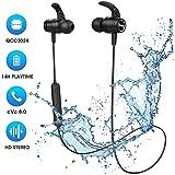 Cuffie Bluetooth 5.0 Bassi Potenziati e Stereo Hi-Fi, Mpow S10 IPX8 Impermeabili, Cuffie Wireless Sp...