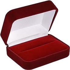 EYS JEWELRY® Schmuck-Etui für Trauringe Freundschaftsringe Partnerringe Samt Trauring-Box Ring-Schachtel Schatulle Geschenk-Verpackung EYSBOX