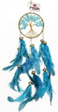 Rooh Dream Catcher ~ Healing Tree ~ Handmade Hangings for Positivity (Can be used as Home Décor Accents, Wall Hangings, Garden, Car, Outdoor, Bedroom, Key chain, Meditation Room, Yoga Temple, Windchime)