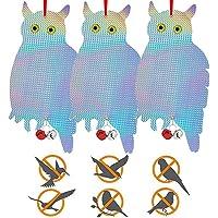 Repellente Uccelli Gufo,Gufo Scaccia Piccioni da Balcone,Gufo Spaventapasseri Riflettenti,Repellente Uccelli da Esterno…