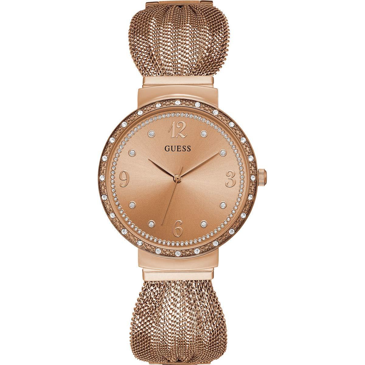 online retailer 420e7 775be Guess Damen Analog Quarz Uhr mit Edelstahl Armband W1083L3 - Radau Pigiau