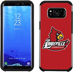 Prime Brands Group Textured Team Color Cell Phone Case for Samsung Galaxy S8 Plus - NCAA Licensed University of Louisville Cardinals