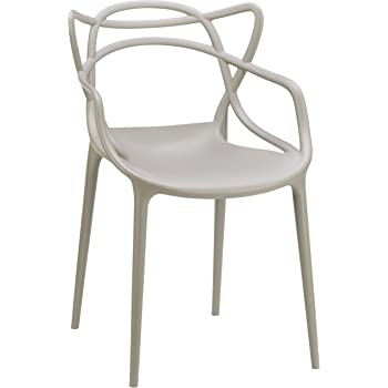 Masters Chair grey/matt/WxHxD 57x84x47cm: Amazon.co.uk: Kitchen & Home