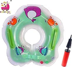 Endureal Kleinkind Kinder Schwimmender Schwimmen Ring Aufblasbarer Baby Schwimmring Kommt mit Einer Hand-Schnellpumpe by (Grün)