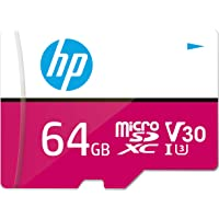 HP Micro SD Card 64GB with Adapter U3 V30 (Pink) (Write Speed 85MB/s & Read Speed 100 MB/s Records 4K UHD and Fill HD…