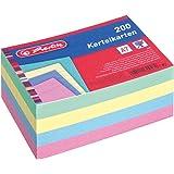 Herlitz Lot de 200 fiches Bristol 1150507 au Format A7 Coloris Aléatoire