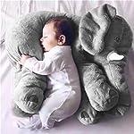 FairytaleMM Animal de Peluche Cojín Niños Bebé Durmiendo Almohada Suave Juguete con Forma de Elefante Lindo