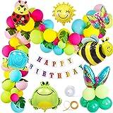 MMTX Cumpleaños Jardín Fiesta Decoración Vistoso Globos para Chico Chica Jardín Niño Cumpleaños Globo Decoración,Selva Insect
