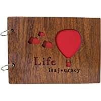 Giftshotspot Photo Album for Life is A Journey/Air Balloon Suitable for Gifts (8.5 Inch X 6.5 Inch) Brown (Liv_Album 1…
