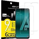 NEW'C 2-Stuks, Screen Protector voor Samsung Galaxy A50, Galaxy A50s, Gehard Glass Schermbeschermer Film 0.33 mm ultra transp
