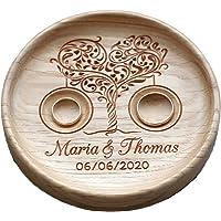 Cuscino anelli matrimonio Cuscino Fedi Portafedi Anello Portatore Personalizzato Nomi e Data Matrimonio rustico Cuscino…