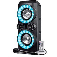 Enceinte Autonome sur Batterie - Koolstar CREED266-300W - USB SD Bluetooth - Micro filaire - 2x Boomer 16cm à LED RVB
