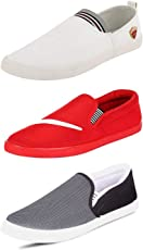 SCATCHITE Men's Canvas Loafers - Pack of 3