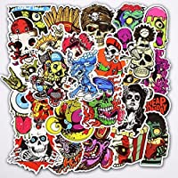 Yoogeer Car Luggage Stickers,[50 pcs] Horror Skull Vinyl Car Stickers Motorcycle Bicycle Luggage Decal Graffiti Patches Skateboard Stickers - Not Repeat
