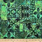 Trans-Pacific Textiles 0670703 Hawaii Calls Tapa Teal