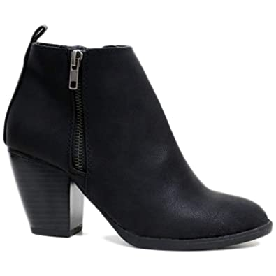 wide fit ankle boots womens chelsea biker smart block low