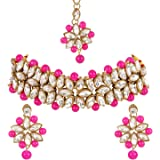 Shining Diva Fashion Latest Choker Design Antique Kundan Traditional Necklace Jewellery Set for Women