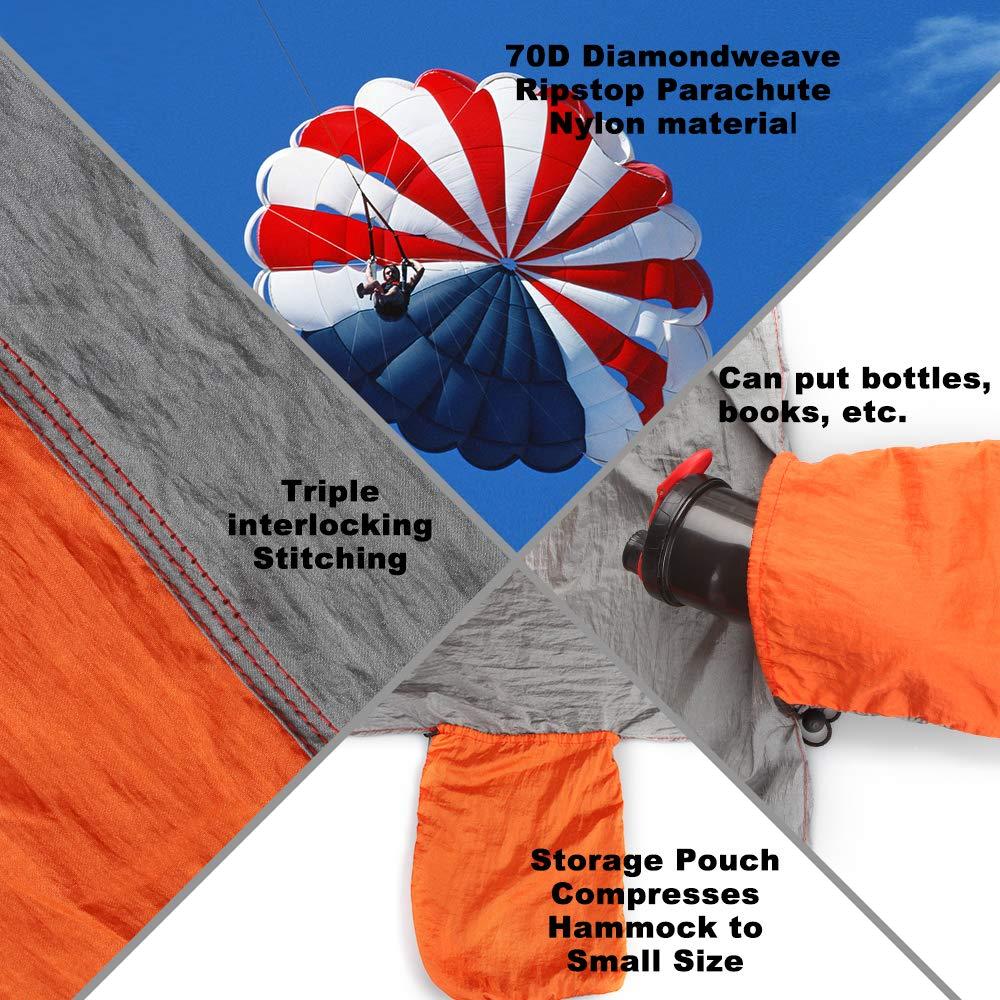 10ft Regolabili Cinghie Albero Sospensione per Amaca da Giardino e Campeggio 2 Pezzi/ EASY EAGLE Cinghie Amaca Regge Fino a 300kg