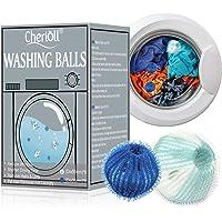 Lot de 12 balles de lavage, boules de lavage, boules de lavage, épilateur pour le linge, les poils d'animaux de…