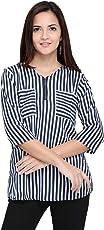 J B Fashion Women Tunic Short Top For Jeans Plain Diamond Creap Top For Daily wear Stylish Casual and Western Wear Women/Girls Top