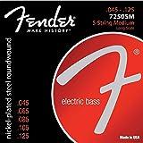 """Fender""""Super 7250"""" Jeu de 5-cordes pour basse électrique - 7250-5M (045/125) - Acier Plaqué Nickel"""