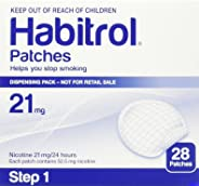 Habitrol Nicotine Patches | Step 1 High Strength 21mg | 28 Piece Bulk Pack