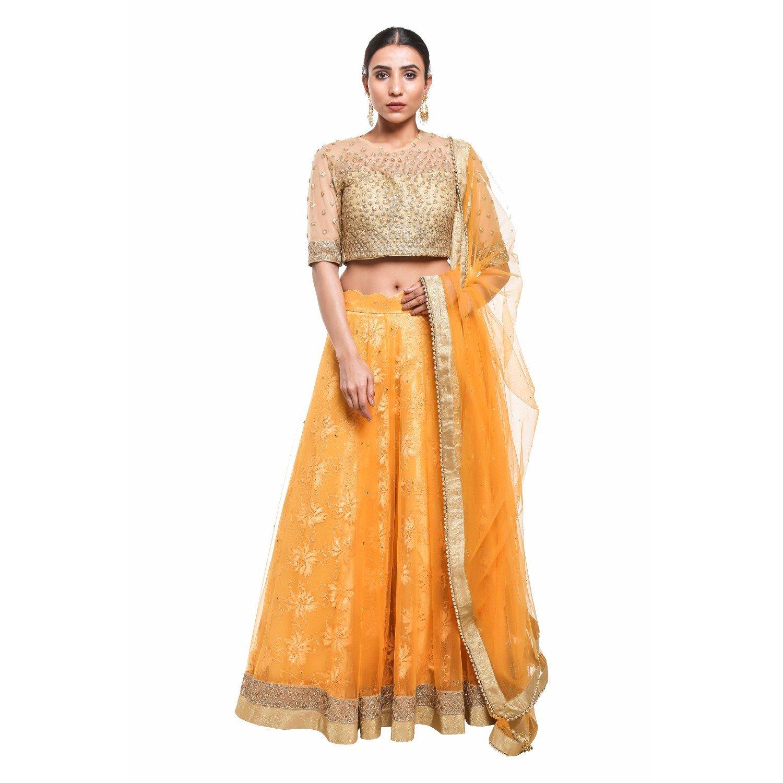 e458ca798f Pushp Paridhan Bollywood Style Traditional Ethnic Wear Hand Work With Zari  Work Musterd Lehenga Choli Set For Women