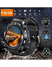ProTech Electronics Smart Watch,Bluetooth Smartwatch Touchscreen with Camera, Smart Watches Waterproof Smart Wrist Watch Phone Compatible Android for Men Women Kids (V8)