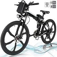 Faltbares E-Bike,36V 250W Elektrofahrräder, 8A Lithium Batterie Mountainbike,26 Zoll Große Kapazität Pedelec mit Lithium…
