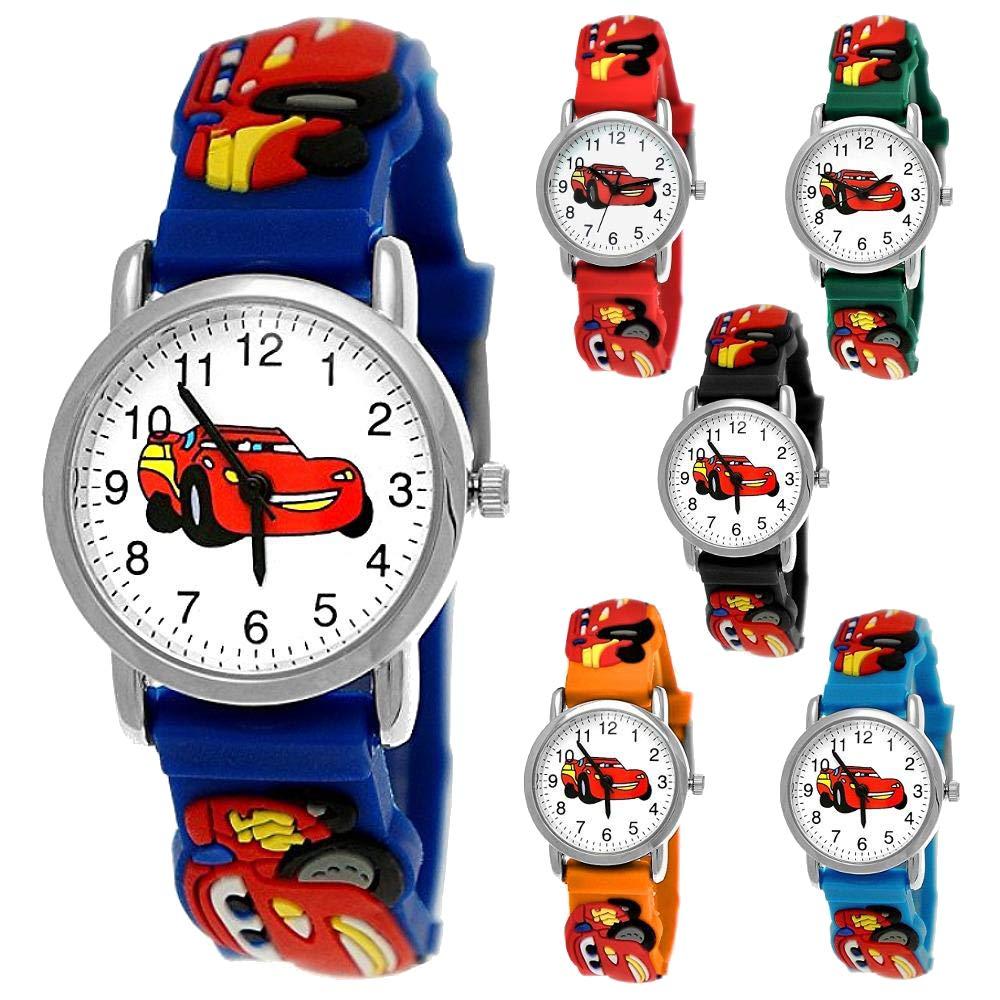 60% de liquidación mejor precio el más baratas Pure Time Coches Cars Niños Reloj Niños Reloj niñas Reloj Auto Coche de  Carreras Niños Reloj De Pulsera Silicona Pulsera Niño Chica Niños Reloj  Azul ...