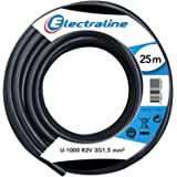 Electraline 20218278D Couronne de Câble U-1000 R2V 3G1,5 25M, Noir
